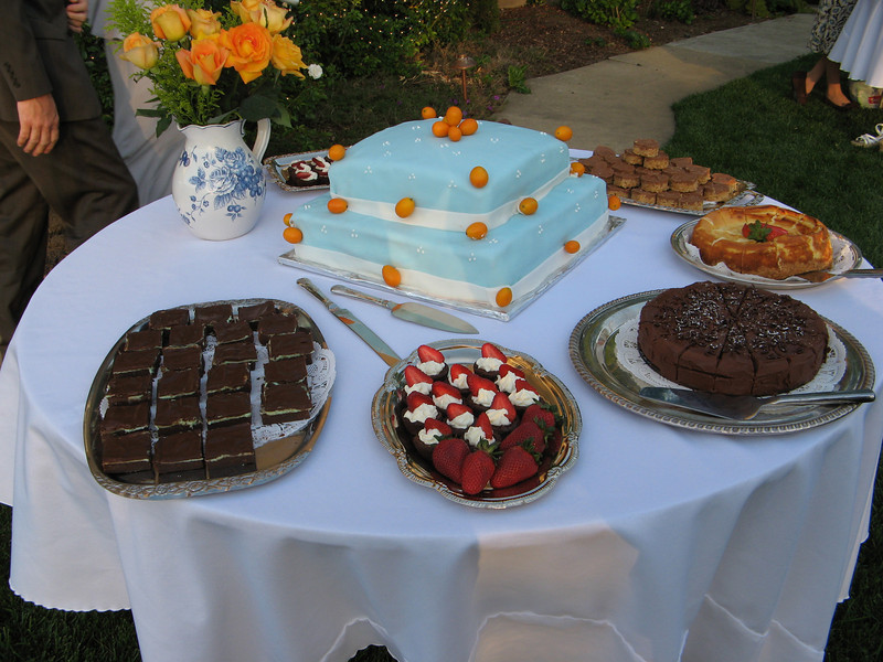 I'm not a big cake eater, so I asked all of my sisters and sisters-in-law to make other desserts to go along with it.  They looked awesome, but we didn't really get to eat any!