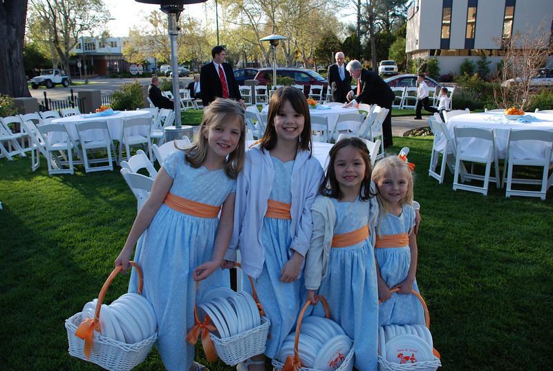 The flower girls - Maddie, Kylie, Jessica, and Zoie.