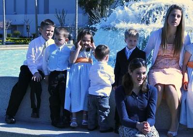 Spencer, Porter, Jessica, Chase, George, Heidi, and Becca