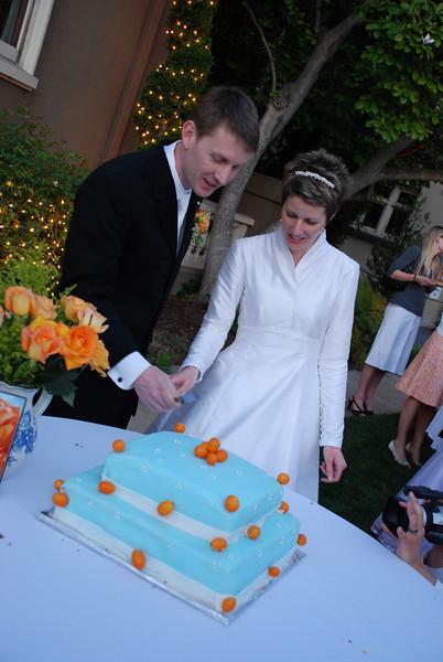 The cake cutting.