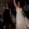 The bride is dancing too