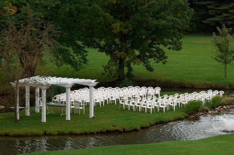 Ready and waiting for the bride and groom