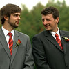 Tim and Shane waiting for the ceremony to start, note Shane's boutonnière