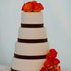 The 4-tiered wedding cake!