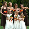 Bridesmaids Margaux, Marianne, Emilie and Julia with flower girls Charlotte, Madeline and Cleo