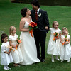 The couple with their flower girls