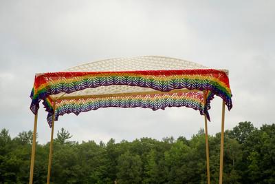 Knit chuppah. - Copyright (c) 2012 Daniel Noe