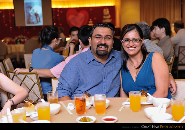 Deepak and his wife (lovely couple right) :)