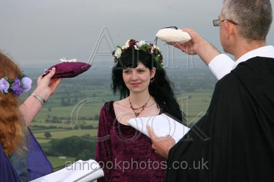 Mid Summer Morning Handfasting On Glastonbury Tor
