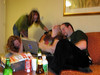 Jen, Lizzies, Rhy and Shawn laugh at the funny internets