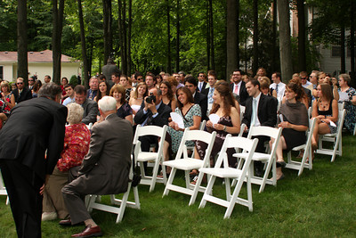 Everyone waiting for the ceremony to begin - Chagrin Falls, OH ... July 4, 2009