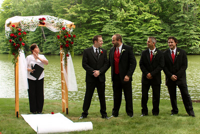 John with the groomsmen - Chagrin Falls, OH ... July 4, 2009