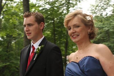 Rob walks him Mom down the aisle - Chagrin Falls, OH ... July 4, 2009