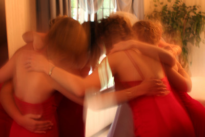 The bridesmaids before the ceremony - Chagrin Falls, OH ... July 4, 2009