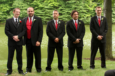 John and the groomsmen - Chagrin Falls, OH ... July 4, 2009
