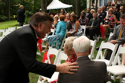 Some last minute words before the ceremony begins - Chagrin Falls, OH ... July 4, 2009