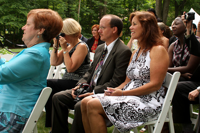 Waiting for the ceremony to begin - Chagrin Falls, OH ... July 4, 2009