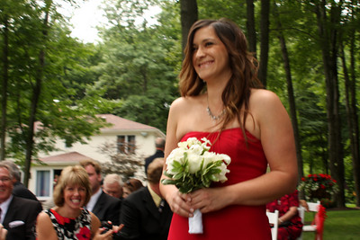 Maria comes down the aisle - Chagrin Falls, OH ... July 4, 2009
