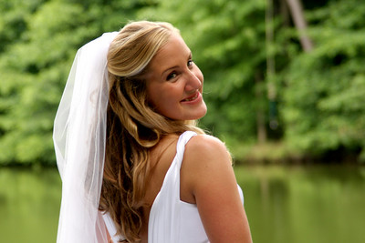 Heather, the vibrant bride - Chagrin Falls, OH ... July 4, 2009