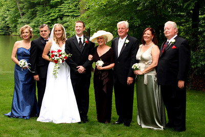 The newlyweds with their parents - Chagrin Falls, OH ... July 4, 2009