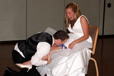 John removes the garter - Solon, OH ... July 4, 2009
