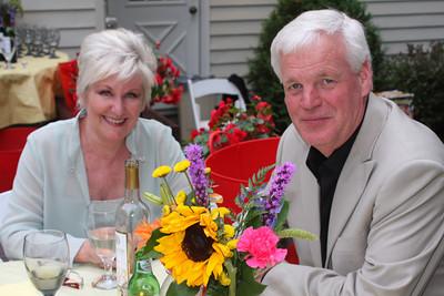 Liz and Hank enjoying the dinner - Chagrin Falls, OH ... July 3, 2009