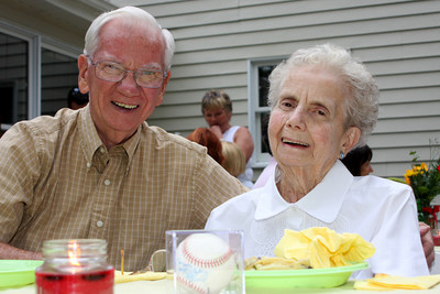Grandpa and Grandma at the rehearsal dinner - Chagrin Falls, OH ... July 3, 2009