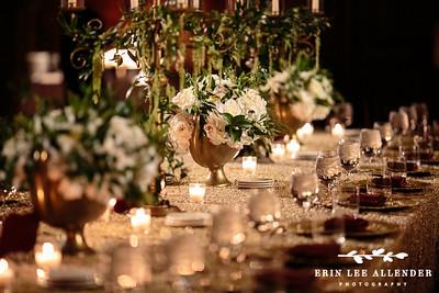 White Candlelit Reception