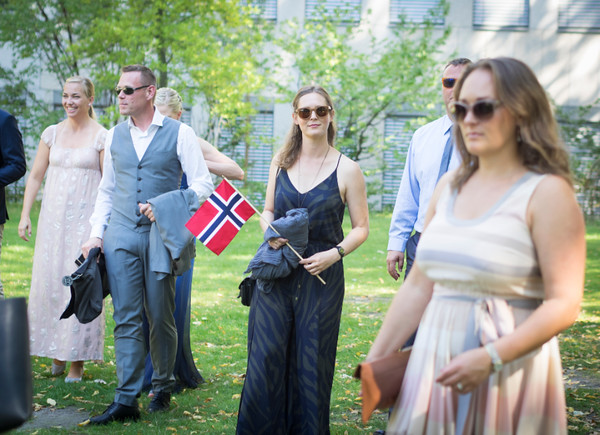norwegian guests at a wedding in Berlin