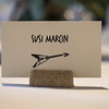 rock n´roll placecard. how awesome.