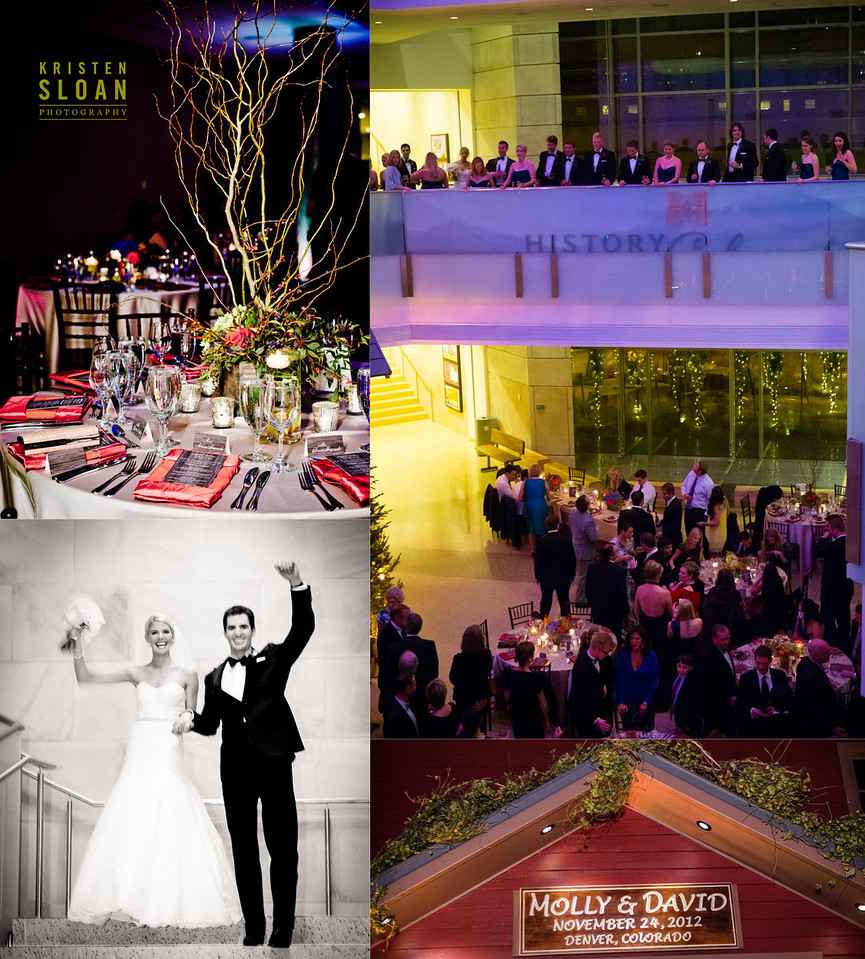 History Colorado Wedding reception