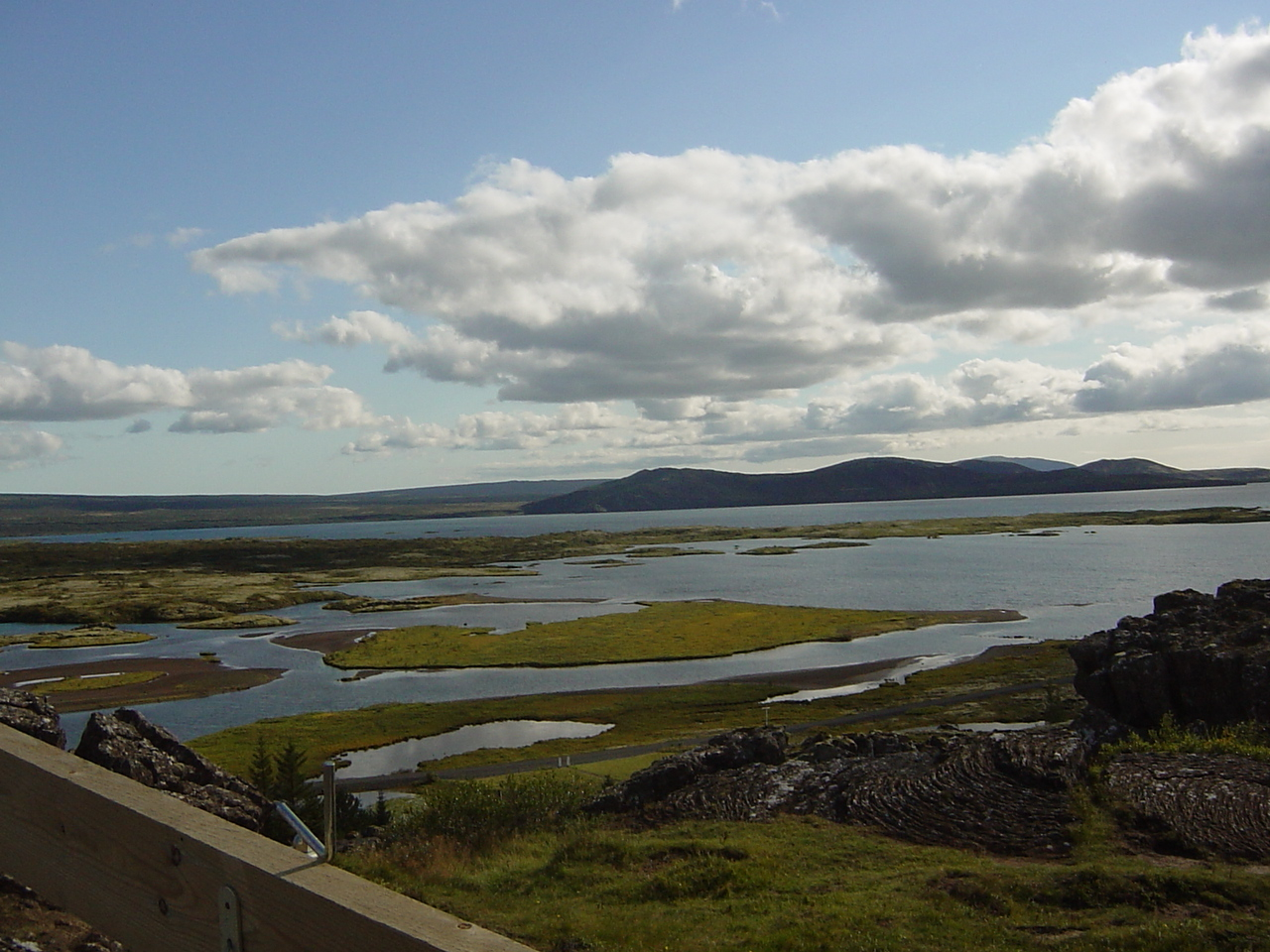 The view from the place where the Icelanders settled their first parliament (way back when..)...
