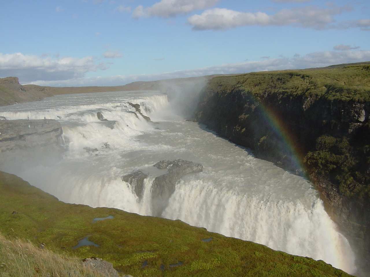 At times you can see 3 or more rainbows at the same time above these falls!