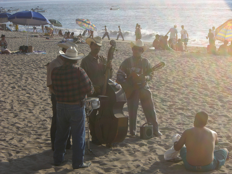 Just a mariachi band on the beach.  Obviously.