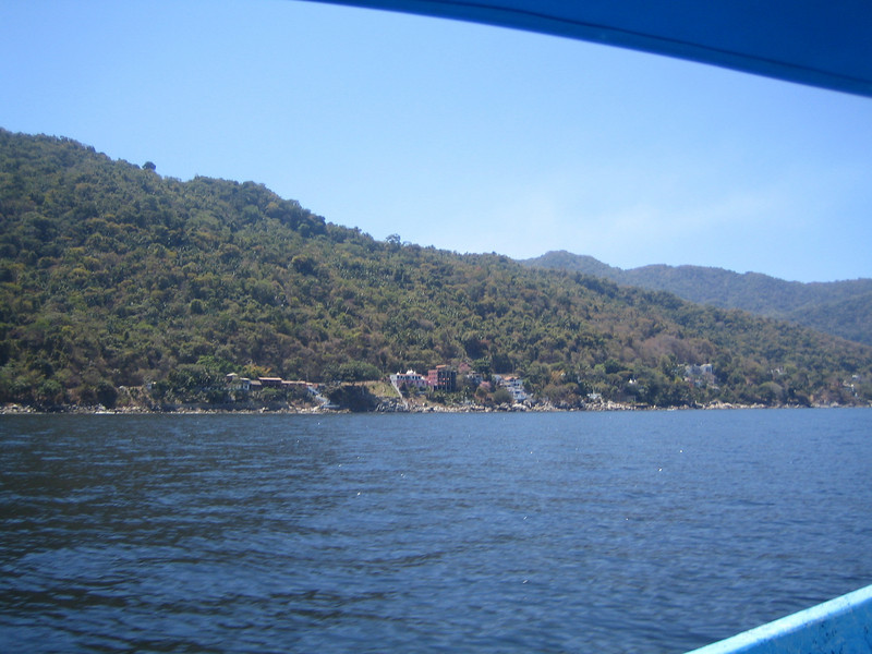 On the way to Yelapa by boat.
