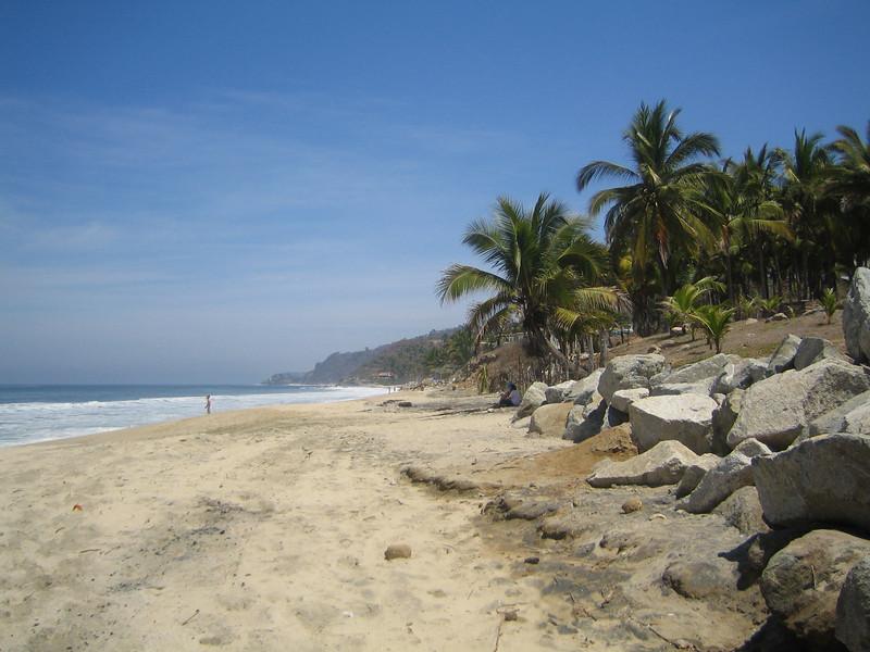On the beach in Sayulita