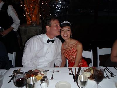 Craig and Hong at reception (gown #2)