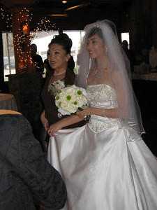 Hong and her Mom walking down the aisle