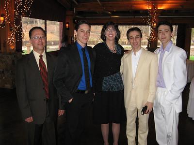 Ricardo, Marcello, Jenny, Pablo, and Martine (M, P, and M are Carolina Ballet dancers)