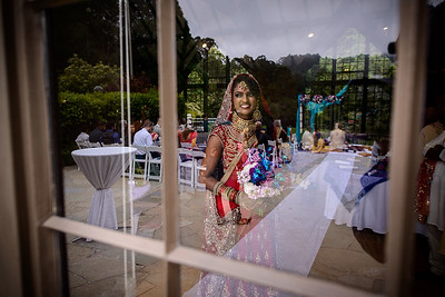 bride waiting for indian ceremony at Brazilian Room