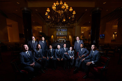 groom and groomsmen at The Fairmont