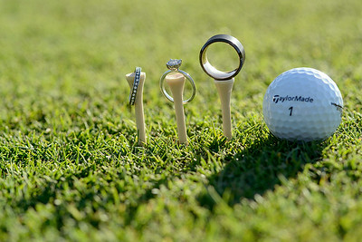 wedding rings at Las Positas Golf Course