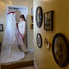 bride and the wedding dress