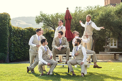 groom and groomsmen at Viansa Winery