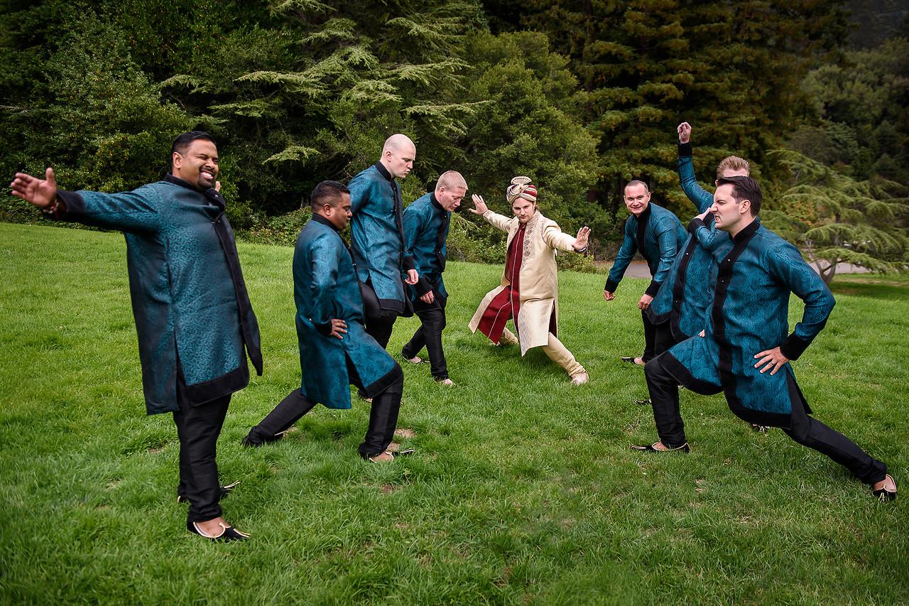 bridal party at Tilden Park