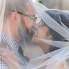 veil shot of bride and groom at Ravenswood Historic Site