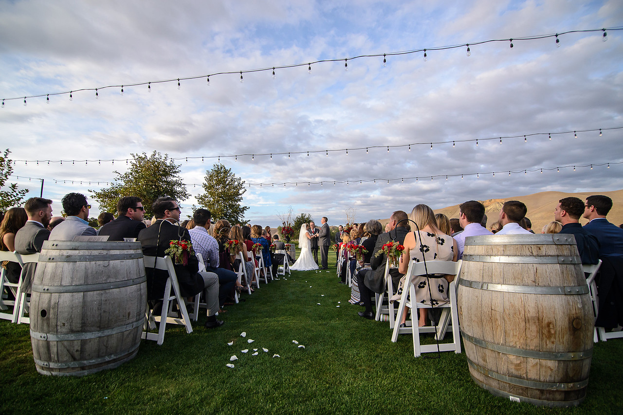 wedding ceremony at Wente Vineyards