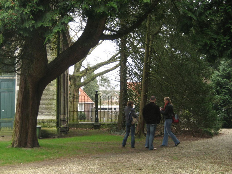 Location scouting an old cemetery in Hilversum