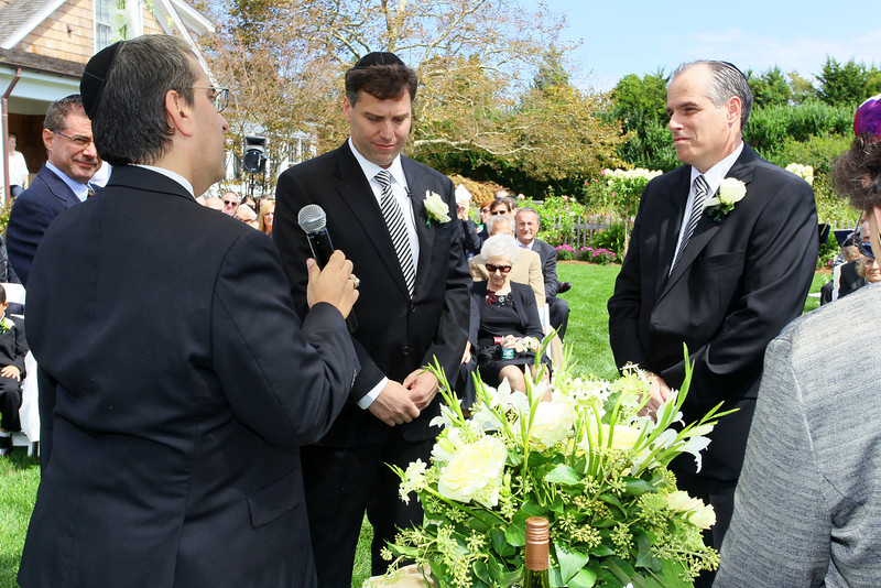 Water Mill, NY - September 11:  Ceremony at the wedding of Joel and Gregg at Private Residence on Sunday, September 11, 2011 in Water Mill, NY.  (Photo by Steve Mack/S.D. Mack Pictures)