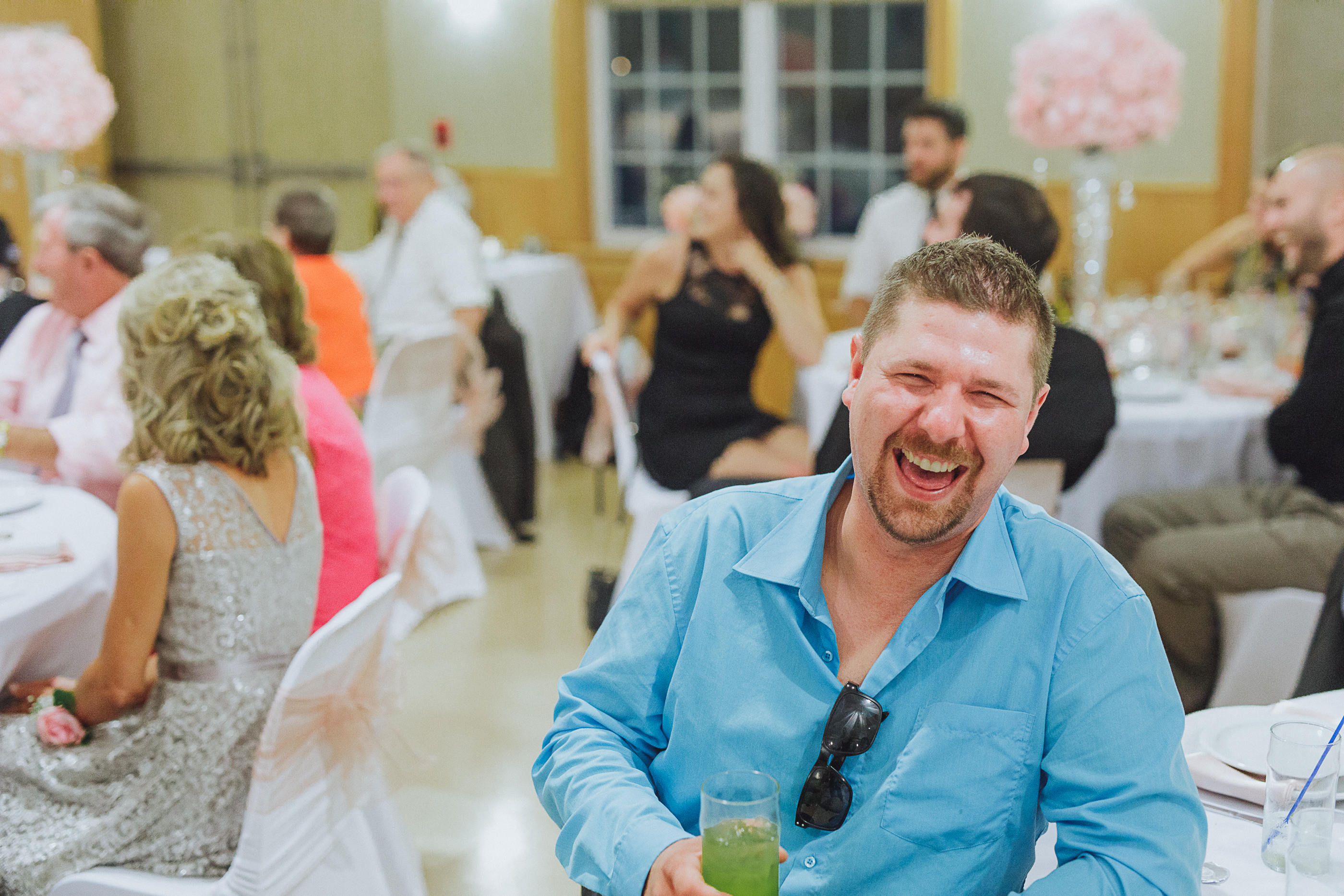 Big laughs - wedding 2017